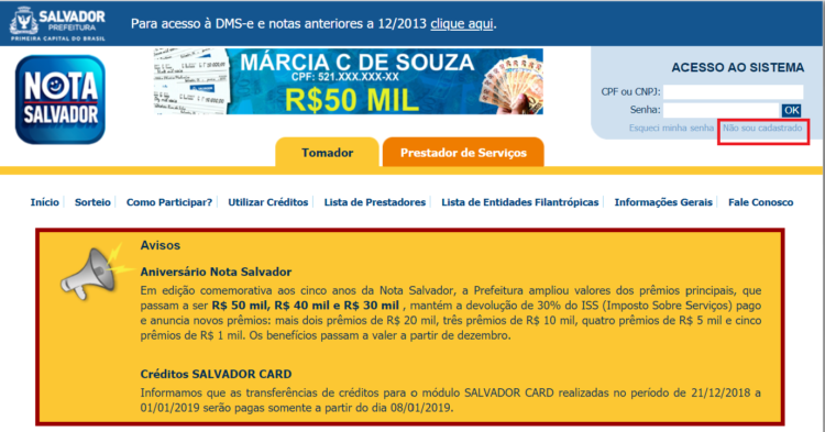 programa Nota Fiscal Salvador foto 2