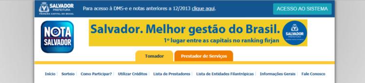 nota fiscal salvador gov br